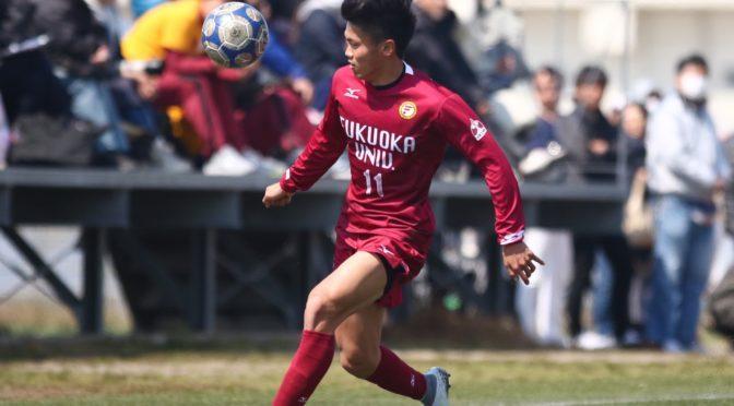 【写真特集】福岡大学FW今村一希_ポストプレーで攻撃の起点となり1アシスト(8枚)